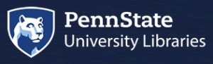 """The Penn State University logo with the words """"Penn State University Libraries"""""""